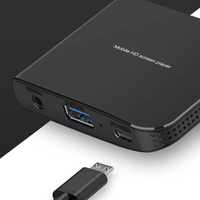 HDTV 1080P ABS Video Converter Computer Portable Screen Mini Accessaries Display Projector Adapter USB To HDMI VGA Player Mobile