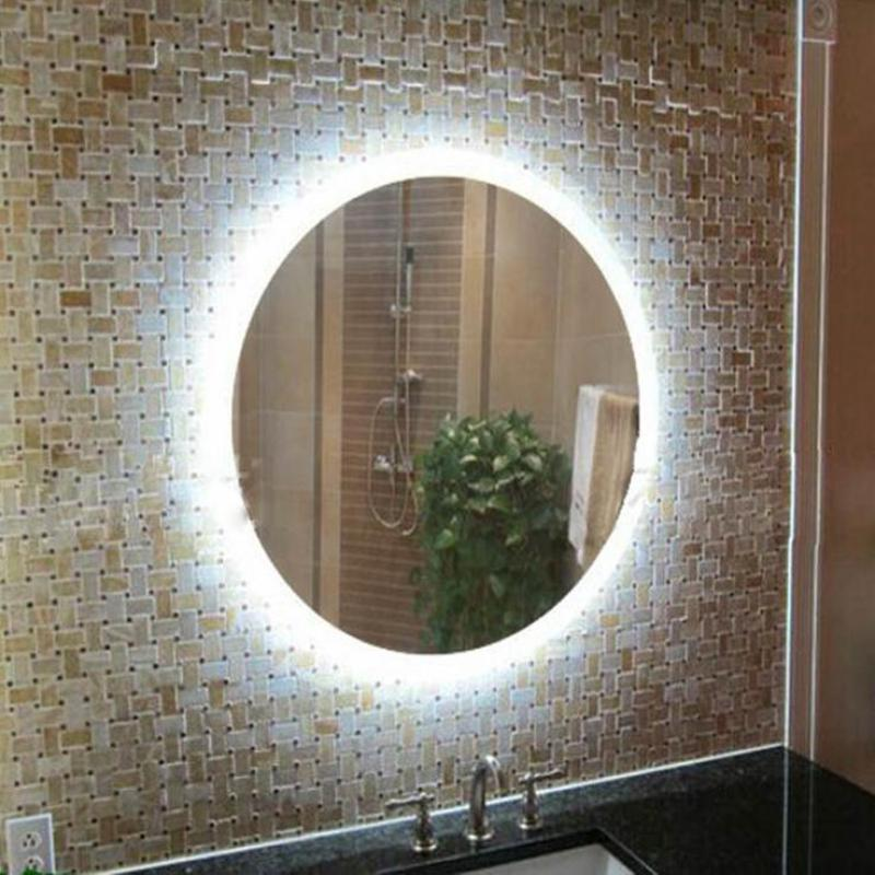 Modern led mirror light round led wall sconce for dressing - Round bathroom mirror with lights ...