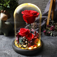 Led Flashing Luminous Floral Fresh Preserved Flowers Wedding Romantic Artificial Rose Flower Decor Valentine's Day Gift