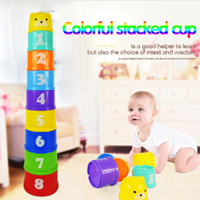 Magic speed flying stack cup jenga knowing the numbers and letters Eductional sport stacking puzzle toys for kids