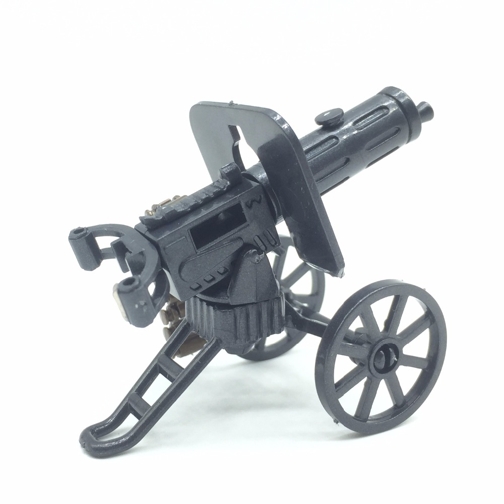 Koolfigure WW2 Artillery Machine Guns Weapons Set Designed for Army Figures/Military Building Bricks Toys Accessories