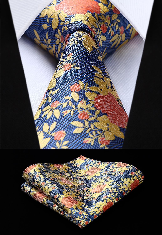 Mens Tie Classic Woven Silk Plaid Green Navy Necktie Handkerchief Set #tc912g8s Buy One Get One Free Apparel Accessories
