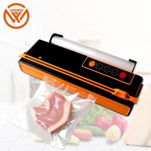 Image 3 - WOMSI Vacuum Packing Machine Mini Automatic Food Vacuum Sealer Own Cutting Knife Bag Slot Vacuum Packer Including 10Pcs Bags