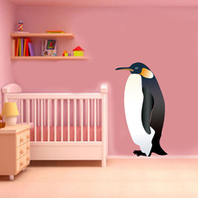 цена на Penguin Animal Color Wall Stickers For Kids Rooms Nursery Removable Waterproof Wall Art Decals Wallpaper Posters Home Decoration