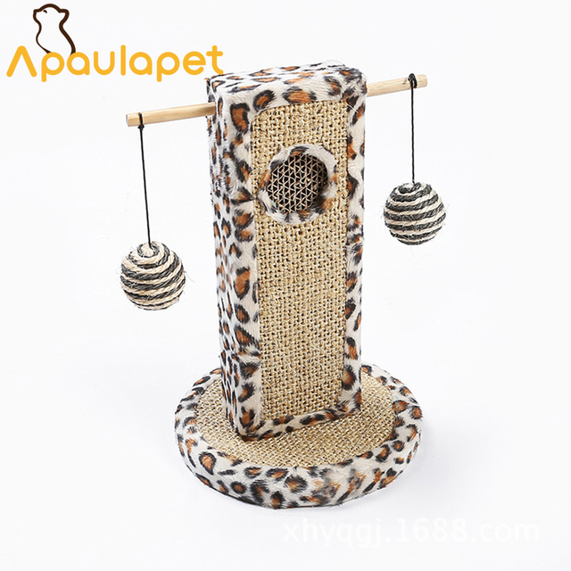 APAUALPET Pet Toy Small Bee Cat Climbing Frame Sisal Cat Scratch ...