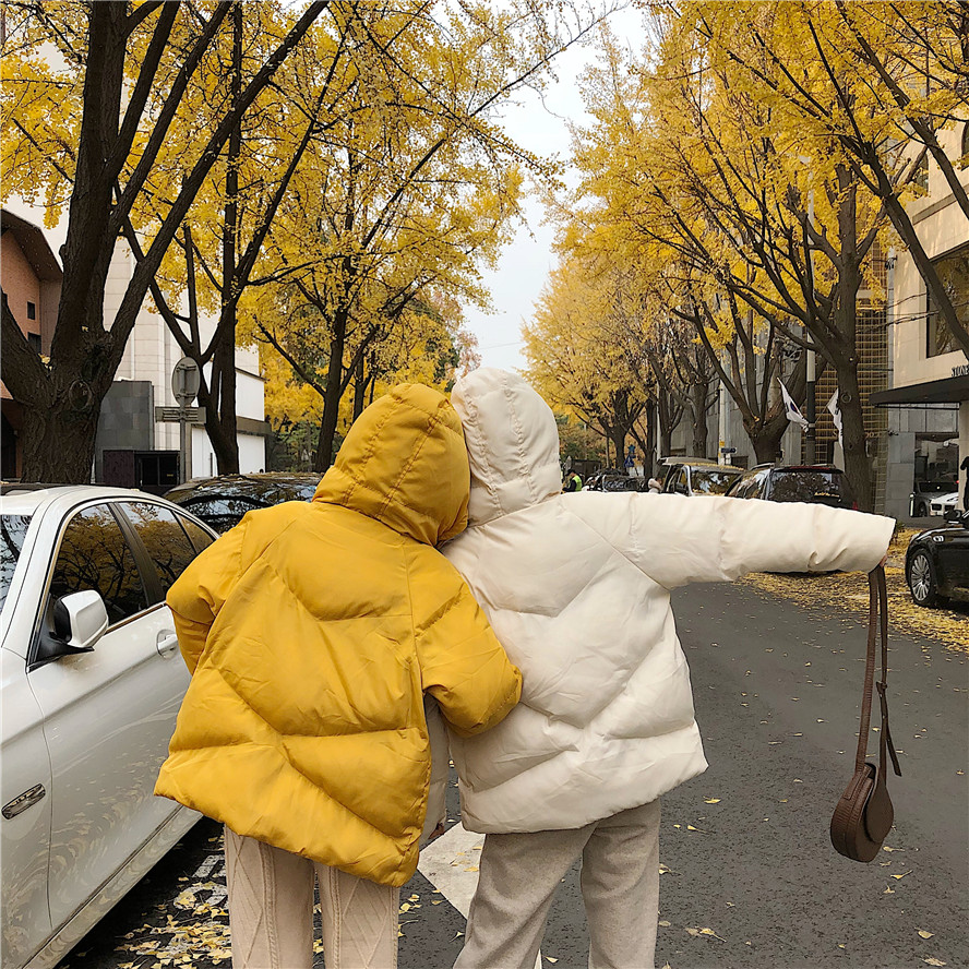 Le Coréenne À 3 Bas Jaune Veau Petit Version Nouvelle Vers 2018 Capuchon Lâche 2 Canard 1 De Veste La 0EvP4qU