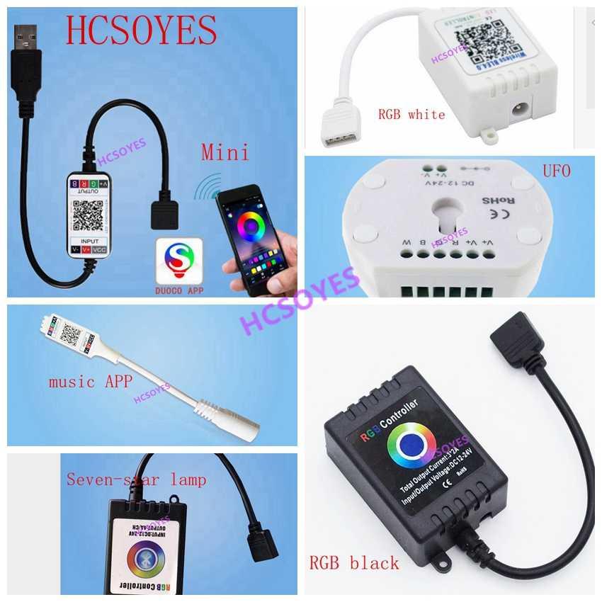 DC5-24V kontroler RGB 5 V inteligentne Mini App UFO bluetooth USB Mini pilot do muzyki IOS Android telefon bezprzewodowy RGBW miękkie taśmy