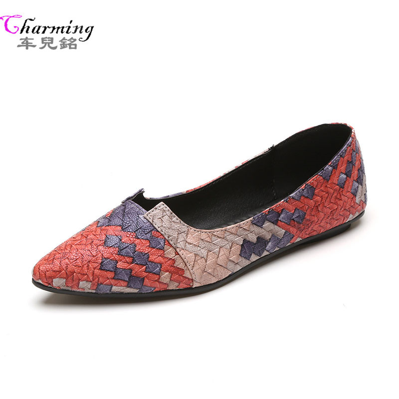 NEW Fashion Woman Flats mixed color spring summer Women Shoes handmade  top quality flat shoes for women comfort casual shoes dreamshining new fashion women colorful flat shoes women s flats womens high quality lazy shoes spring summer shoes size eu35 40