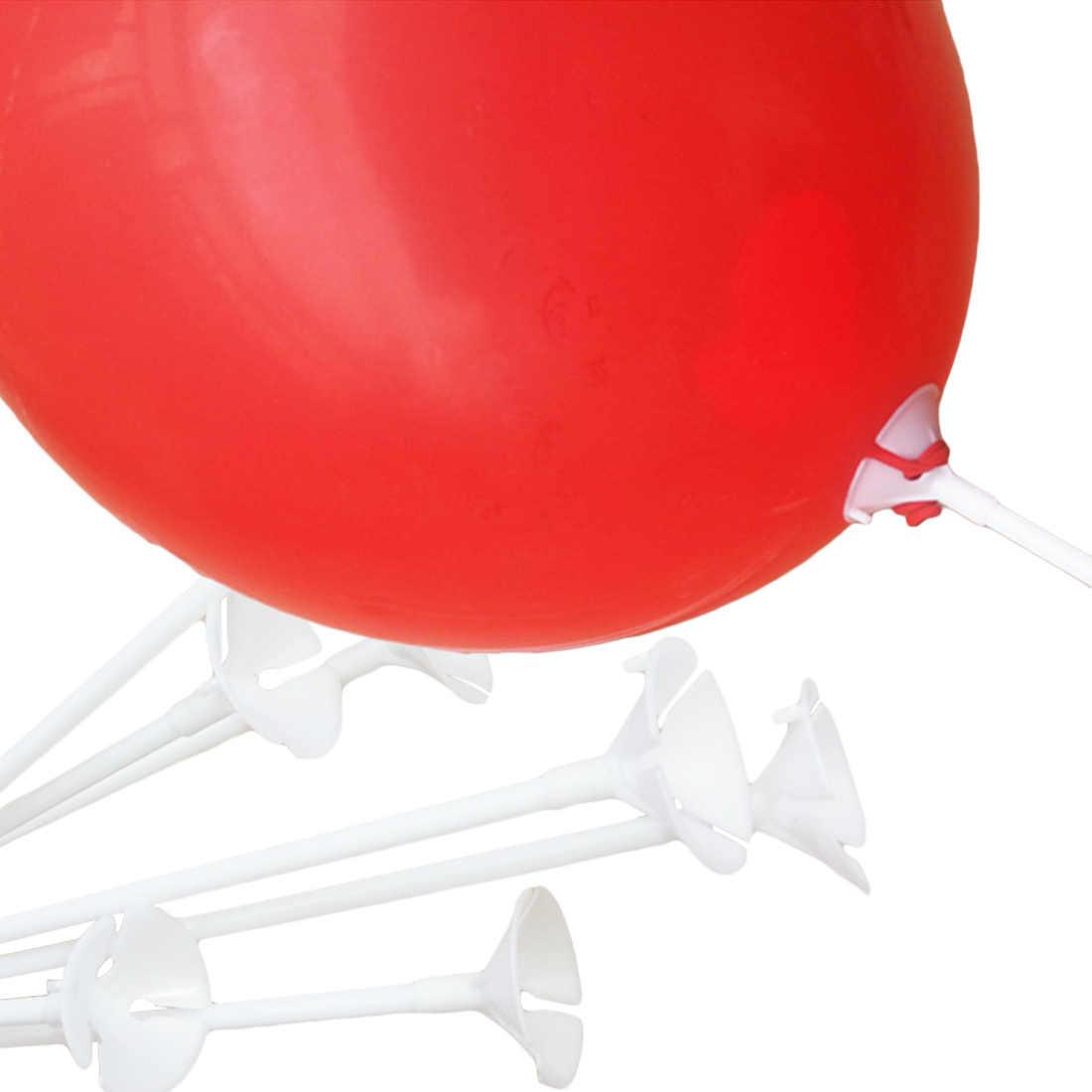 Топ 20 шт белый шар палка полюс пластиковые стержни держатель чашки День рождения Рождество Свадебные шары украшения аксессуары 30 см