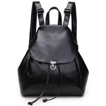 Neue Modemarke Frauen Tasche Aus Echtem Leder Rucksack Klassische Schwarz Luxus Mädchen Schulrucksäcke Taschen Reise frauen Rucksack