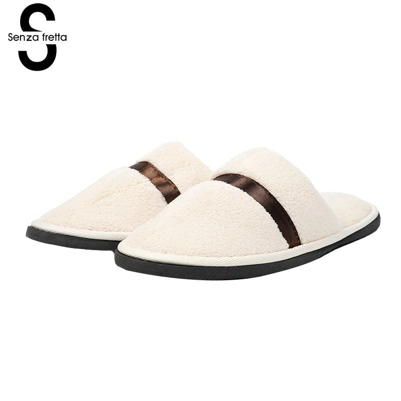 Senza Fretta Cloth Slippers Women Portable Slippers Household Home Soft Slippers Home Sweat Non-slip Striped Home Women Shoes senza fretta women shoes new summer pvc slippers couples women anti slip home slippers indoor soft bottom women slippers