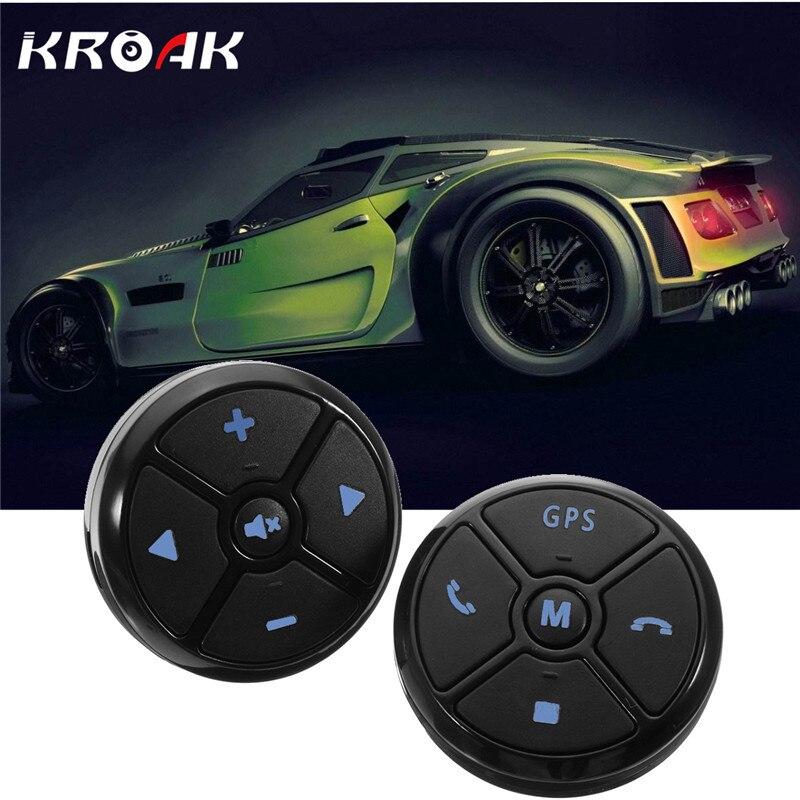 KROAK Universal Wireless Car Steering Wheel Control DVD Button Android GPS Navigation Car Steering Wheel Remote Control Buttons