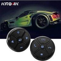 Kroakユニバーサルワイヤレス車のステアリングホイールコントロールdvdボタンアンドロイドgpsナビゲーション車のステアリングホイールリモコンボタン