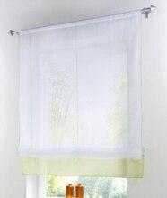 Decoración del jardín cortina, Liftering cinta cortina, altura ajustable varilla persianas romanas bolsillo superior