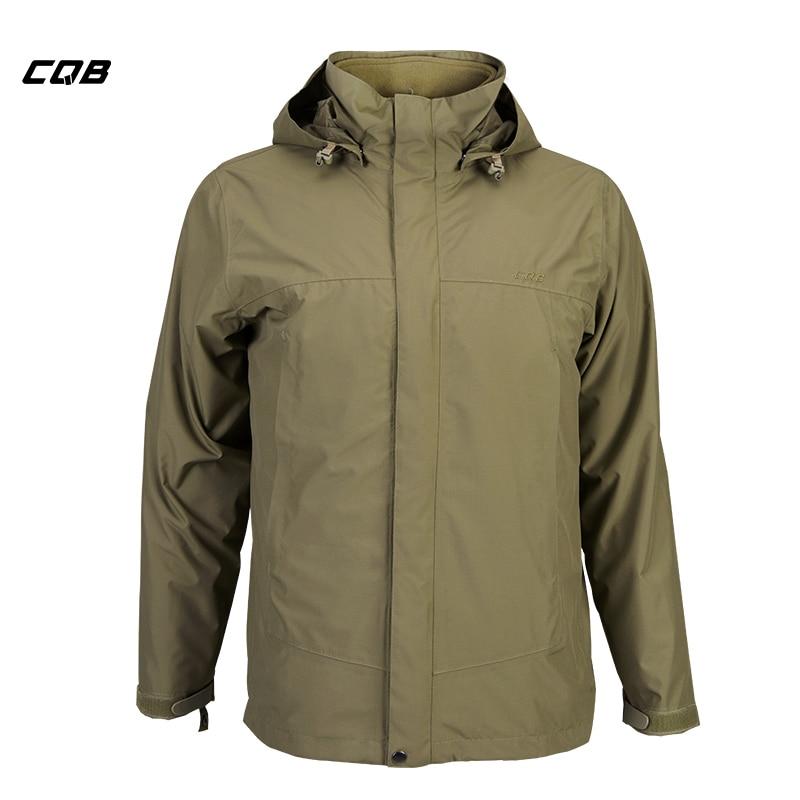 CQB Outdoor Camping Wandern Taktische Militärische männer Jacke Winter 2 stücke Jagd Kleidung Thermische Wasserdicht Atmungsaktiv Mantel