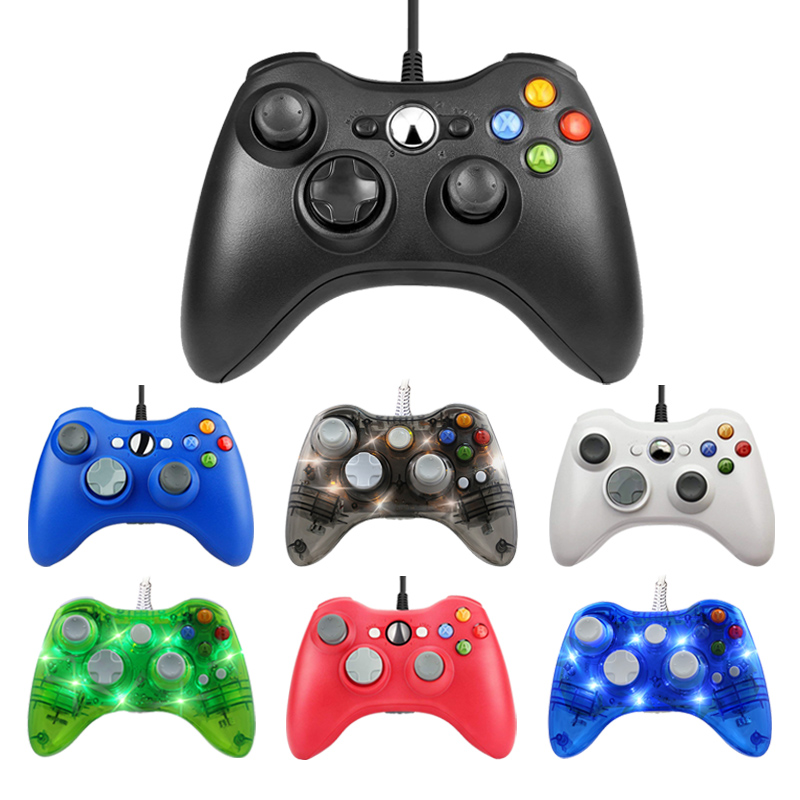 For Xbox 360 USB Wired Gamepad Support Win7/8/10 System Controle Joystick For XBOX360 Slim/Fat/E Console Game Controller Joypad bluetooth wireless gamepad controller for microsoft xbox one slim console gamepad pc joypad game joystick for pc win7 8 10