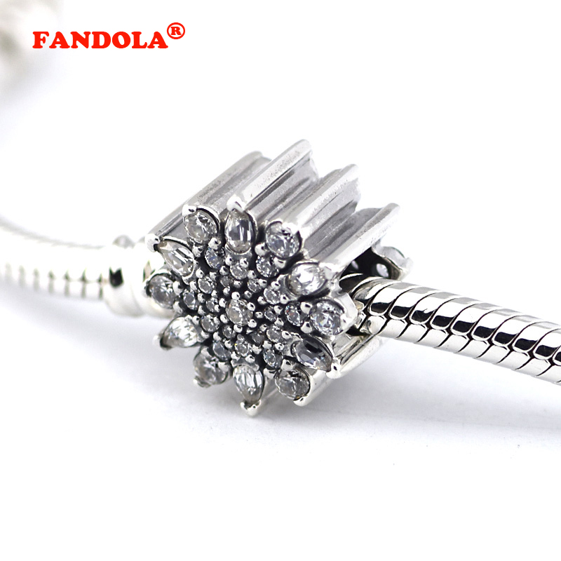Ice Crystal Beads Fits Pandora Bracelet 925 Sterling Silver Jewelry Original Charm Beads for Jewelry Making free shipping FL298 strollgirl car keys 100% sterling silver charm beads fit pandora charms silver 925 original bracelet pendant diy jewelry making
