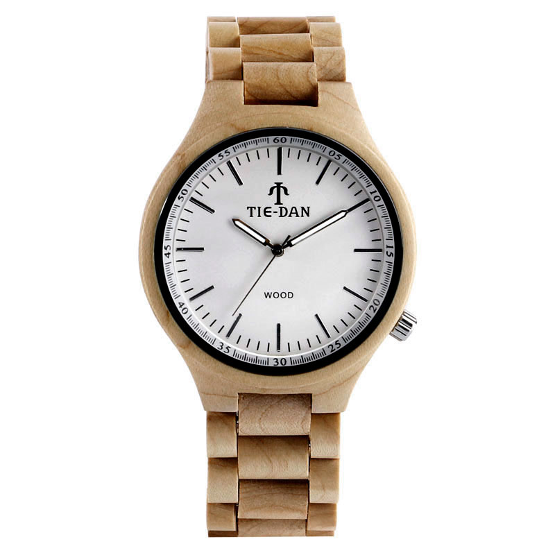 Full Wooden Casual Quartz Wrist Watch Creative Adjustable Band Strap Simple Nature Bamboo Cool Men Women Gift