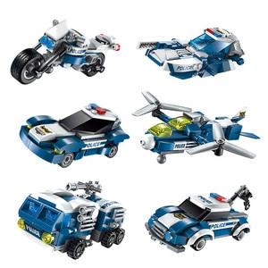 Image 4 - 577pcs Legoings 6 In 1 Police War Generals Robot Car Building Blocks Kit Toys Kids Birthday Christmas Gifts