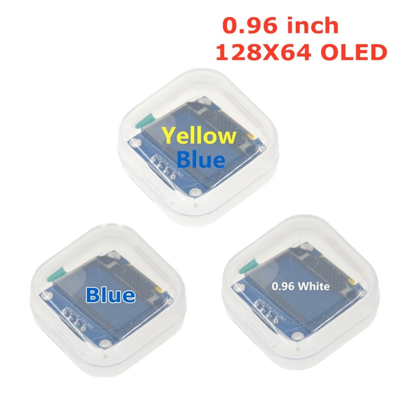 Blue White color 128X64 Yellow Blue <font><b>OLED</b></font> LCD LED <font><b>Display</b></font> Module For Arduino 0.96 inch <font><b>I2C</b></font> IIC Serial new original image