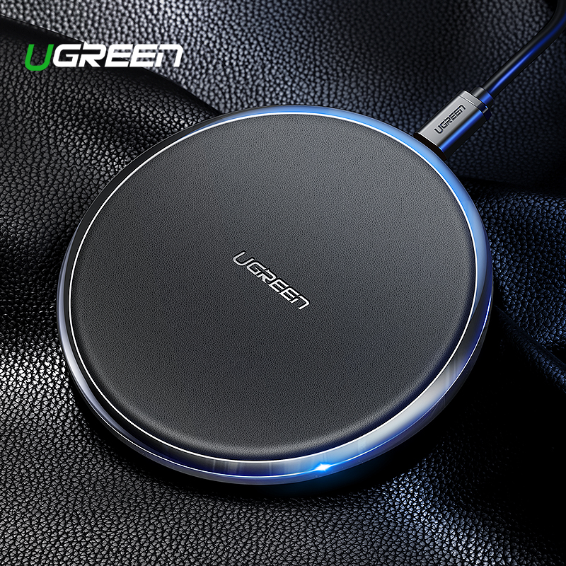 Ugreen Leather Wireless Charger For iPhone Xs Max XR X 8 10W Fast Wirless Wireless Charging Pad For Samsung Xiaomi MIX 3 ChargerUgreen Leather Wireless Charger For iPhone Xs Max XR X 8 10W Fast Wirless Wireless Charging Pad For Samsung Xiaomi MIX 3 Charger