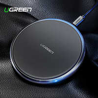 Ugreen Leather Wireless Charger For iPhone Xs Max XR X 8 10W Fast Wirless Wireless Charging Pad For Samsung Xiaomi MIX 3 Charger