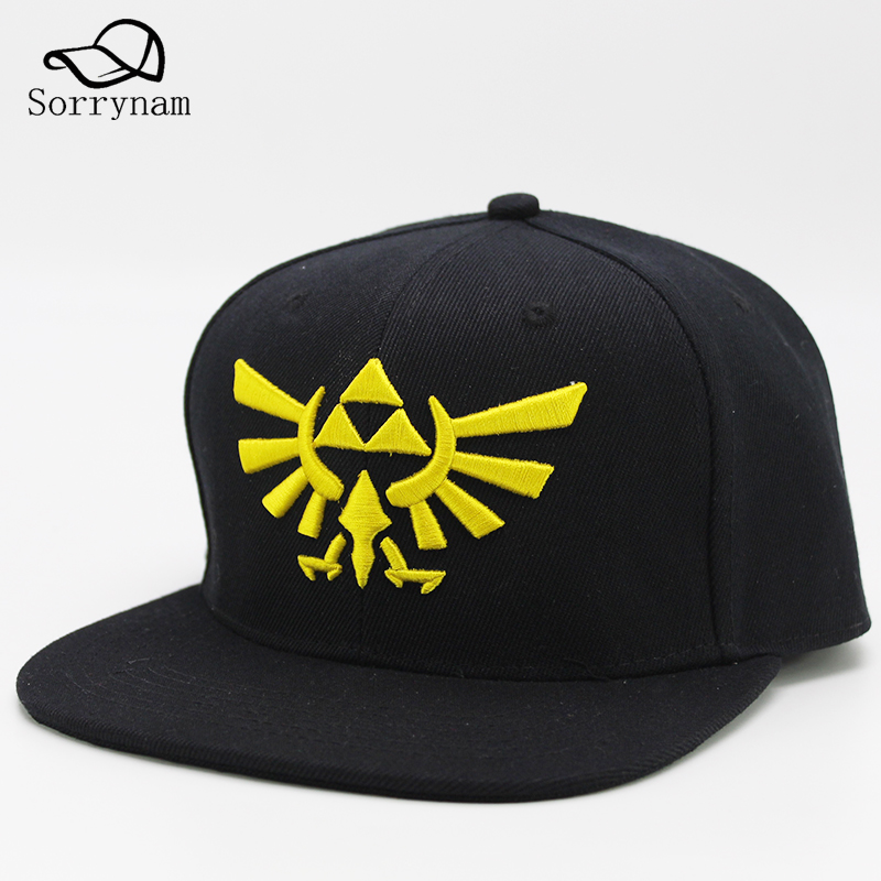 The Legend of Zelda Snapback Summer Cotton Hip Hop Cap Hat Baseball Caps For Men Women Embroidery Adjustable Hats 2 Colors 2017 winter hat for women men women s knitted hats wrinkle bonnet hip hop warm baggy cap wool gorros hat female skullies beanies