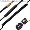 Для Marshall Major Основных 2 Основных II Монитор Голосового Управления Кабель Гарнитуры Наушники Привод по проводам Кабель для Iphone Samsung