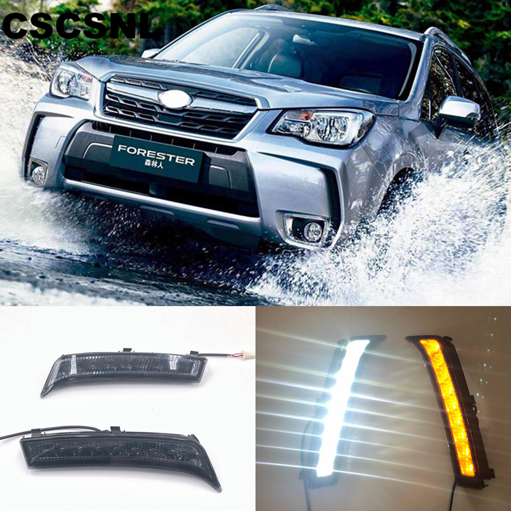 CSCSNL 2pcs For Subaru Forester 2013 2014 2015 2016 2017 2018 LED DRL Daytime Running Lights