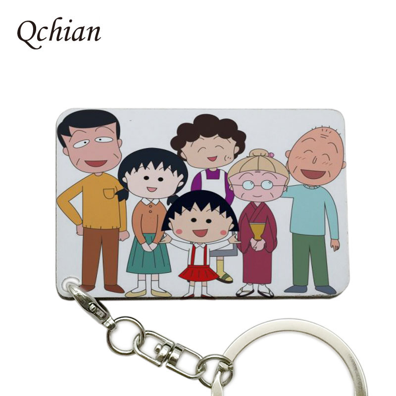 The Hottest Anime  Chi-bi Maruko Series Photo Keychain, Hang Bag or Shopping Bag ,can be Customized Presents,Pokemon