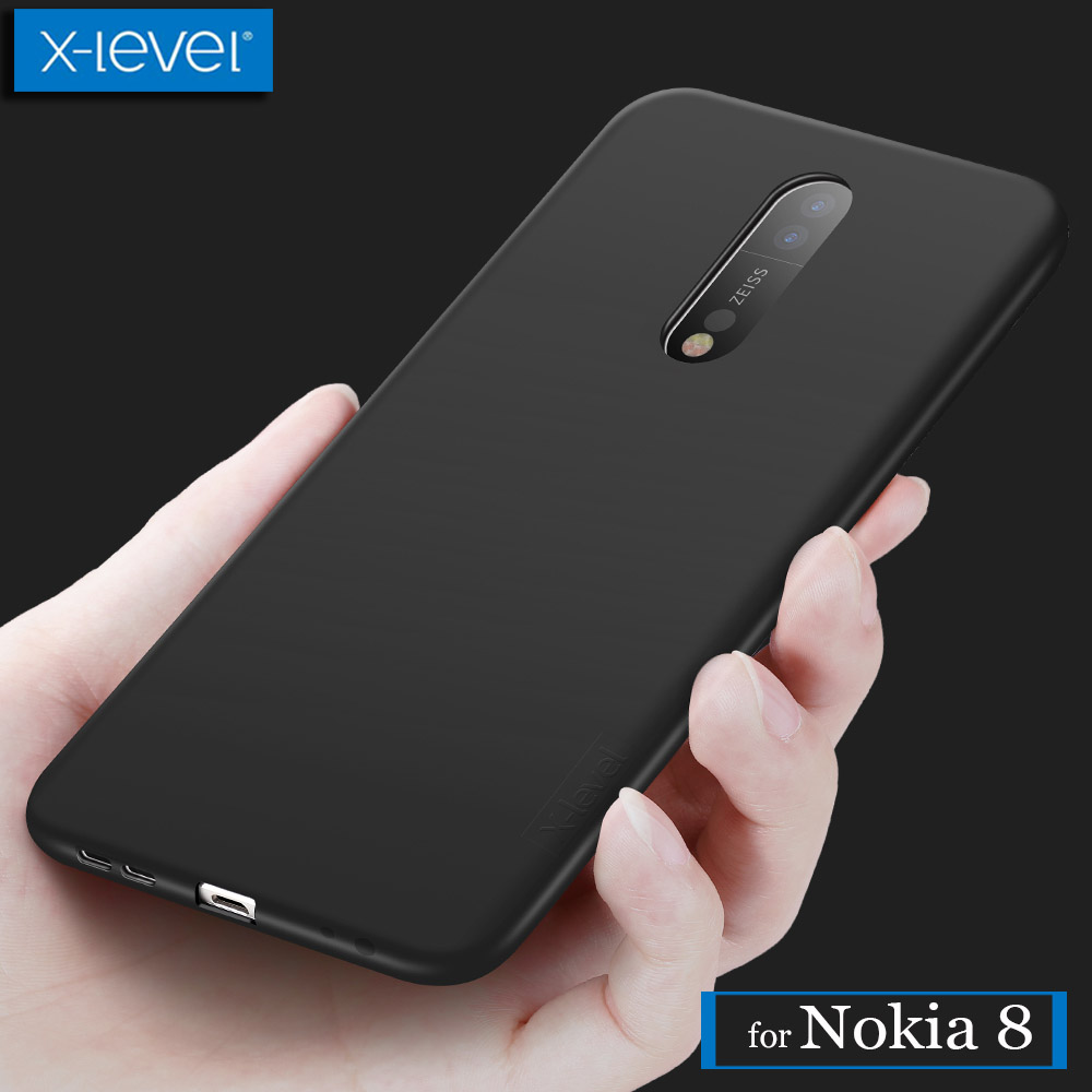 for Nokia 8 Case X-Level Guardian Ultra Thin Matte 360 Full Covered Soft Silicone TPU Phone Back Protective Cover for Nokia 8