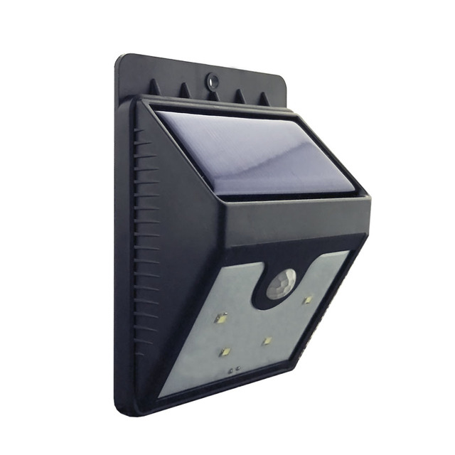 4LED Outdoor Solar Sensor LED Light PIR Infrared body Motion Sensor ...