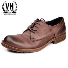 2018 spring and autumn British leisure shoes men genuine leathe business men's shoes male British retro all-match cowhide eric williams british capitalism and british slavery