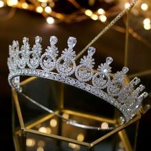 ASNORA Nuevos tocados de corona con cincon, joyería Vintage de moda, peinado nupcial, accesorios de fiesta, corona