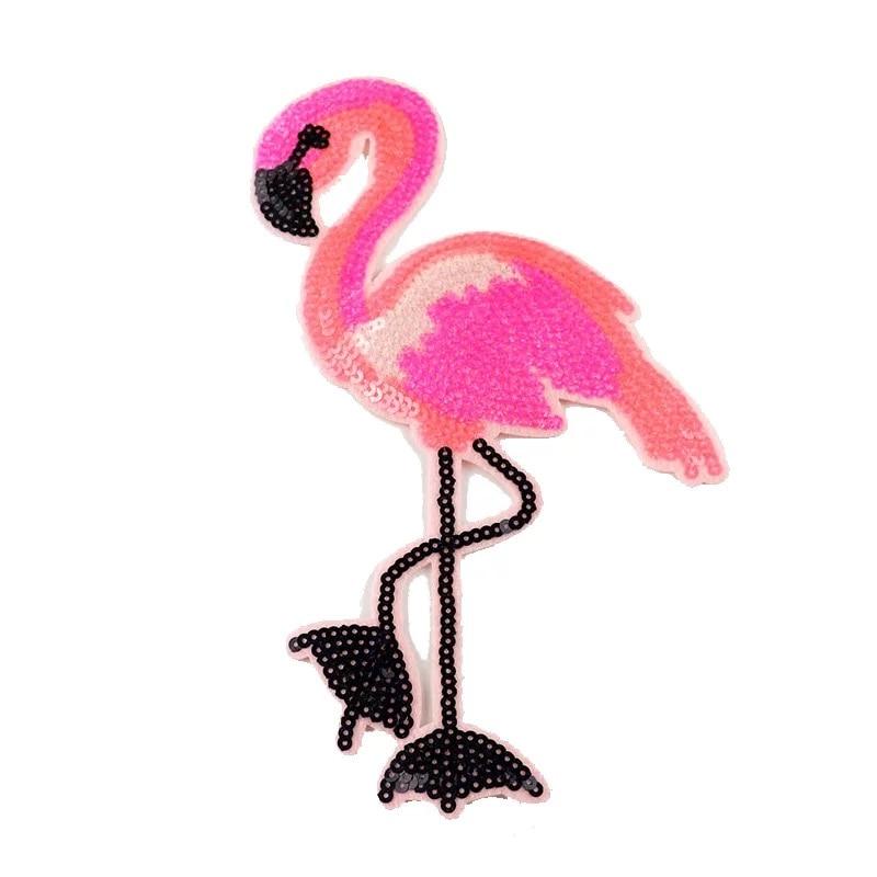 ROZE Flamingo Patches voor kleding Trui Naaien op Lovertje Patch DIY - Kunsten, ambachten en naaien