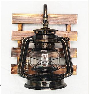 Vintage retro bronze iron lantern Kerosene wall lamp E27 for hallway Bathroom bar Vanity night Lights fixture sconce bedroom