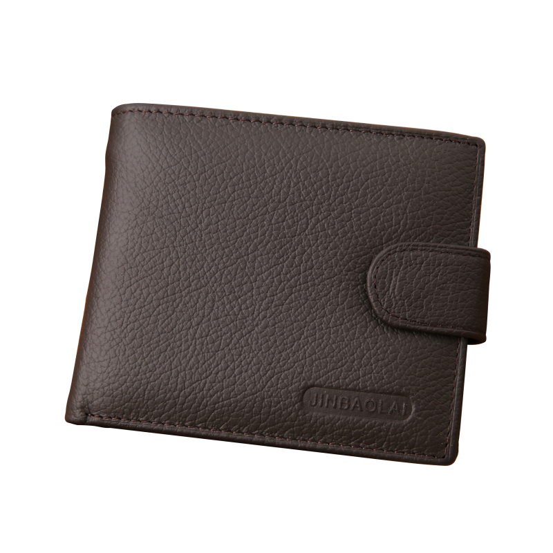 New Arrival Genuine Leather Wallet Men Famous Brand Mens Wallet with Coin Pocket Carteira Masculina Couro