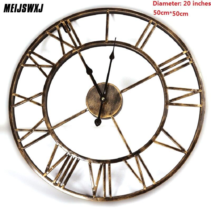 20 дюймов 3D большие настенные часы Saat железные настенные часы Reloj часы цифровые часы Duvar Saati Horloge Murale Relogio De Parede Klok