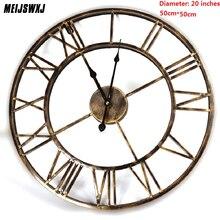 European Retro Wrought Iron Wall Clock Creative Mute Quartz 100-M1137