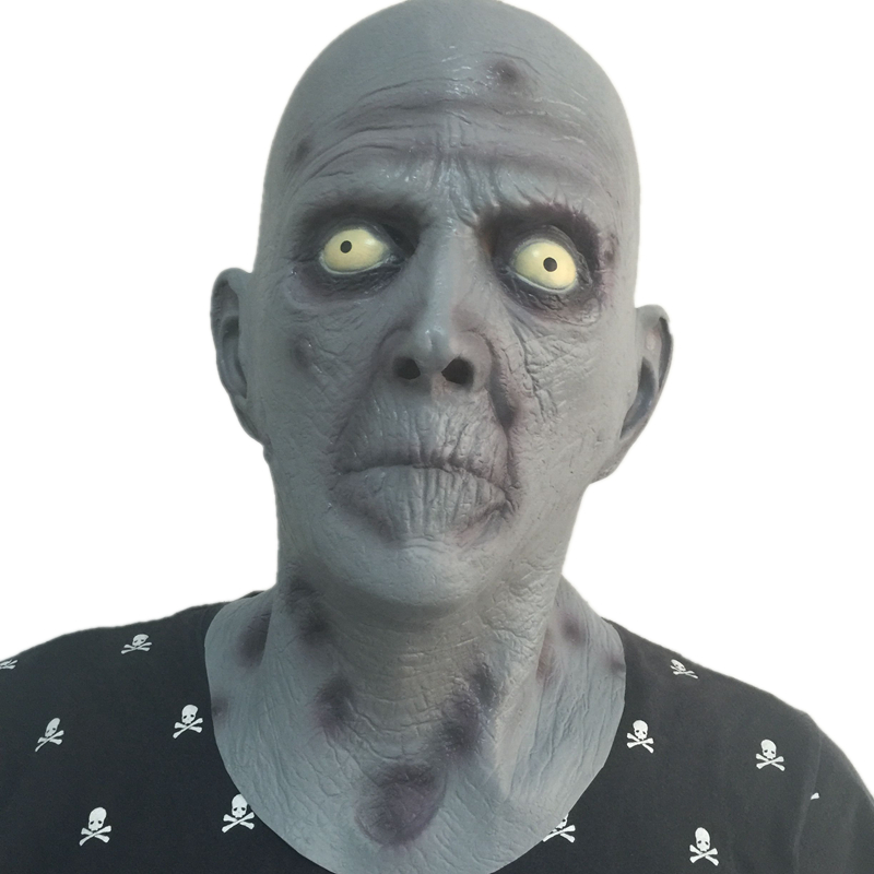 <font><b>New</b></font> Arrivals <font><b>Terror</b></font> Old Man Latex Mask Halloween Rubber Fancy Dress Head Horrible Realistic Masks Carnival Costume Fancy Dress