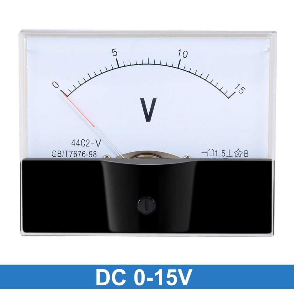 DC 75V Analog Panel Voltage Measuring Meter Voltmeter Gauge 44C2 0-75V DC