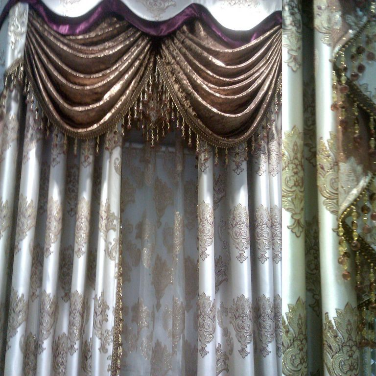 Huayin Velvet Linen Curtains Tulle Window Curtain For: New Lace Tulle Crystal Curtain Home Window Curtains The