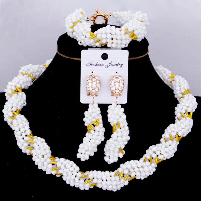 Dudo bijoux bijoux fins ensembles pour femmes cristal blanc or classique collier africain Dubai bijoux ensemble livraison gratuite 2018 nouveau