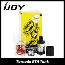 Original IJOY Tornado Nano Chip Coil RTA Atomizer Tank 4ml E-liquid Capacity Tornado Nano Rebuildable Tank with two post Deck
