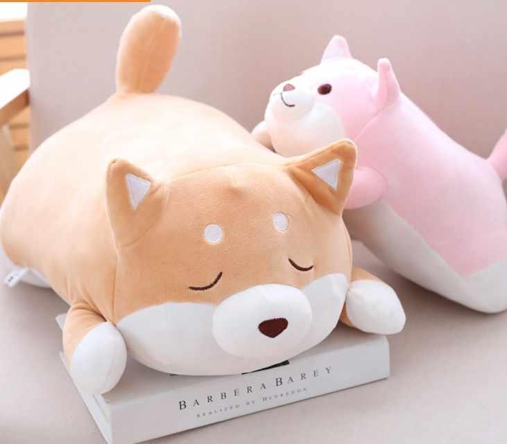 Frete grátis 36-55 centímetros Suave Gordo Kawaii Shiba Inu Cão bonito Dos Desenhos Animados stuffed plush toy Travesseiro para as crianças presente