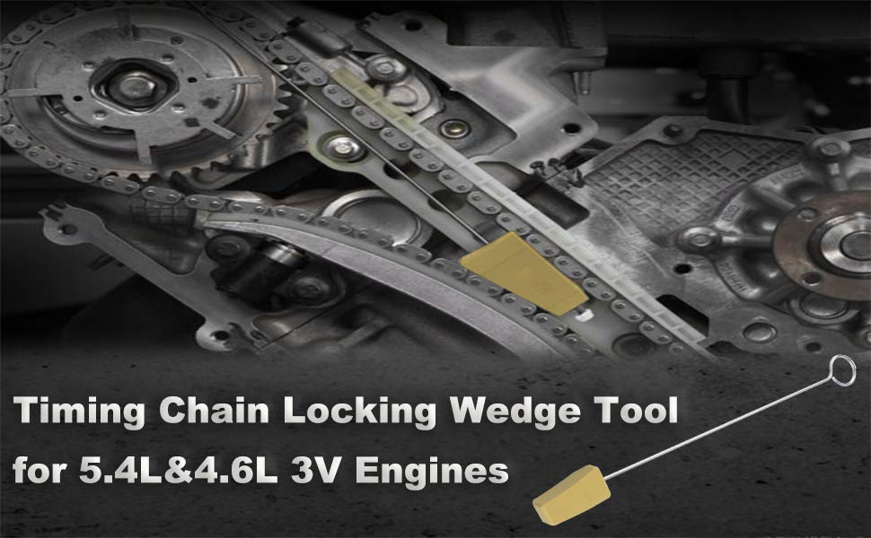 Timing Chain Locking Wedge Holding Tool for 5 4L 4 6L 3V for Engines Lincoln Mercury 2005 2014 Ford Mustang F 150 Explorer in Camshafts Lifters Parts from Automobiles Motorcycles