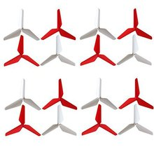 4 Pack Of Upgraded 3 leaf Propellers For Syma X5SC X5C X5SW JJRC H5C RC Quadcopter Parts Red jjrc h5c 11 replacement 500mah li polymer battery for h5c x5c silver