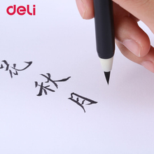 Deli wholesale 1pcs write directly soft brush pen for calligraphy practice school student stationery supplies art drawing brush