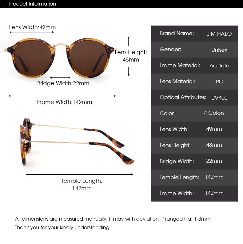 Chicago Retro Polarized Round Sunglasses