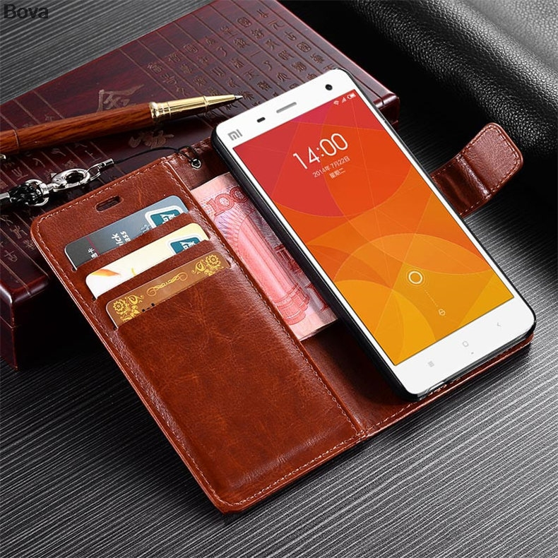 Xiaomi 4 Mi4 korthållare fodral för Xiaomi Mi4 M4 Pu läderfodral - Reservdelar och tillbehör för mobiltelefoner - Foto 3